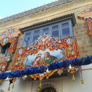 ゴゾ島北西部の街Għarbアーブのお祭り