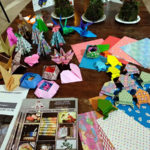 折り紙、コケ玉、イベントフライヤー
