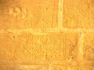 ゴゾ オールドプリズン 壁に彫られた落書き