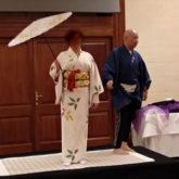 ゴゾ島にて日本の着物着付けデモンストレーション